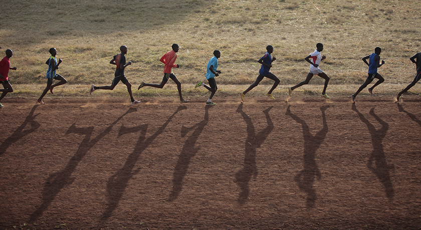 Photos taken in Kamariny Stadium in Iten, Kenya's town of champion marathon runners, for documentary film by Anjali Nayar supported the National Film Board of Canada called Gun Runners.